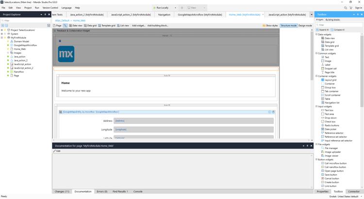 Second example of low-code development platform: Mendix